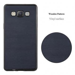 Cadorabo Hülle für Samsung Galaxy A3 2015 in WOODEN BLAU ? Handyhülle aus flexiblem TPU Silikon ? Silikonhülle Schutzhülle Ultra Slim Soft Back Cover Case Bumper - Vorschau 2