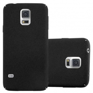 Cadorabo Hülle für Samsung Galaxy S5 / S5 NEO in FROSTY SCHWARZ - Hardcase Handyhülle aus Plastik gegen Kratzer und Stöße - Schutzhülle Bumper Ultra Slim Back Case Hard Cover