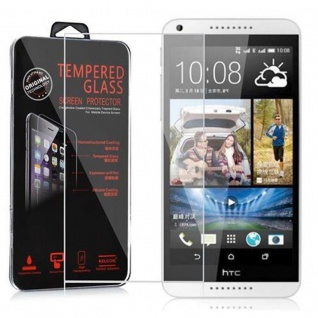 Cadorabo Panzerglas für HTC DESIRE 816 - Schutzfolie in KRISTALL KLAR ? Gehärtetes (Tempered) Display-Schutzglas in 9H Härte mit 3D Touch Kompatibilität
