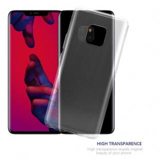 Cadorabo Hülle für Huawei MATE 20 PRO in VOLL TRANSPARENT - Handyhülle aus flexiblem TPU Silikon - Silikonhülle Schutzhülle Ultra Slim Soft Back Cover Case Bumper - Vorschau 5