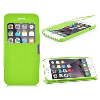 Cadorabo Hülle für Apple iPhone 6 / iPhone 6S - Hülle in GIFT GRÜN ? Handyhülle im View Design mit Sichtfenster - Case Cover Schutzhülle Etui Tasche Book Klapp Style