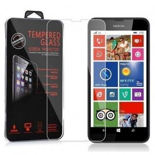 Cadorabo Panzer Folie für Nokia Lumia 630 / 635 - Schutzfolie in KRISTALL KLAR - Gehärtetes (Tempered) Display-Schutzglas in 9H Härte mit 3D Touch Kompatibilität
