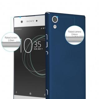 Cadorabo Hülle für Sony Xperia XA1 in METALL BLAU - Hardcase Handyhülle aus Plastik gegen Kratzer und Stöße - Schutzhülle Bumper Ultra Slim Back Case Hard Cover - Vorschau 2