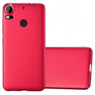 Cadorabo Hülle für HTC Desire 10 PRO in METALL ROT - Hardcase Handyhülle aus Plastik gegen Kratzer und Stöße - Schutzhülle Bumper Ultra Slim Back Case Hard Cover