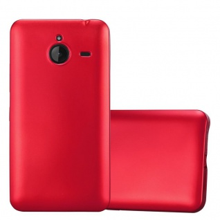 Cadorabo Hülle für Nokia Lumia 640 XL in METALLIC ROT - Handyhülle aus flexiblem TPU Silikon - Silikonhülle Schutzhülle Ultra Slim Soft Back Cover Case Bumper