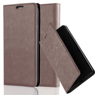 Cadorabo Hülle für Honor 5X / PLAY 5X / Huawei GR5 in KAFFEE BRAUN - Handyhülle mit Magnetverschluss, Standfunktion und Kartenfach - Case Cover Schutzhülle Etui Tasche Book Klapp Style