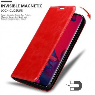 Cadorabo Hülle für Huawei MATE 20 PRO in APFEL ROT - Handyhülle mit Magnetverschluss, Standfunktion und Kartenfach - Case Cover Schutzhülle Etui Tasche Book Klapp Style - Vorschau 3