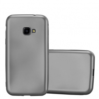 Cadorabo Hülle für Samsung Galaxy Xcover 4 in METALLIC GRAU - Handyhülle aus flexiblem TPU Silikon - Silikonhülle Schutzhülle Ultra Slim Soft Back Cover Case Bumper