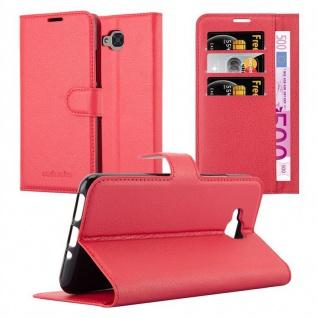 Cadorabo Hülle für BQ Aquaris U2 / U2 Lite in KARMIN ROT - Handyhülle mit Magnetverschluss, Standfunktion und Kartenfach - Case Cover Schutzhülle Etui Tasche Book Klapp Style