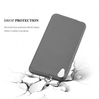 Cadorabo Hülle für HTC DESIRE 820 in METALLIC GRAU - Handyhülle aus flexiblem TPU Silikon - Silikonhülle Schutzhülle Ultra Slim Soft Back Cover Case Bumper - Vorschau 3