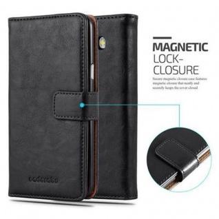 Cadorabo Hülle für Samsung Galaxy J7 2016 in GRAPHIT SCHWARZ - Handyhülle mit Magnetverschluss, Standfunktion und Kartenfach - Case Cover Schutzhülle Etui Tasche Book Klapp Style - Vorschau 2