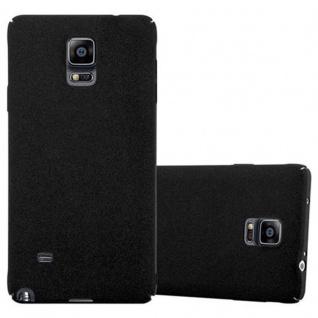 Cadorabo Hülle für Samsung Galaxy NOTE 4 in FROSTY SCHWARZ - Hardcase Handyhülle aus Plastik gegen Kratzer und Stöße - Schutzhülle Bumper Ultra Slim Back Case Hard Cover