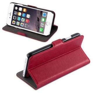 Cadorabo Hülle für Apple iPhone 6 / iPhone 6S - Hülle in GRANATAPFEL ROT - Handyhülle im 2-in-1 Design mit Standfunktion und Kartenfach - Hard Case Book Etui Schutzhülle Tasche Cover - Vorschau 3