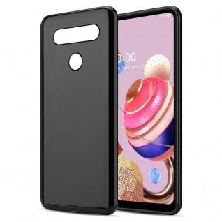 Cadorabo Hülle für LG K51s in SCHWARZ Handyhülle aus flexiblem TPU Silikon Silikonhülle Schutzhülle Ultra Slim Soft Back Cover Case Bumper