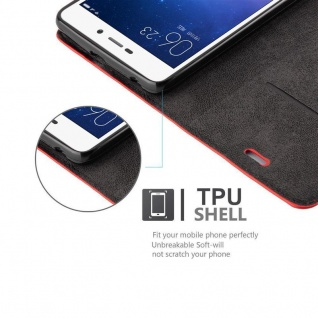 Cadorabo Hülle für Xiaomi RedMi 3S in APFEL ROT Handyhülle mit Magnetverschluss, Standfunktion und Kartenfach Case Cover Schutzhülle Etui Tasche Book Klapp Style - Vorschau 2