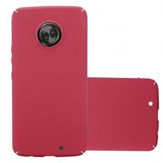 Cadorabo Hülle für Motorola MOTO X4 in FROSTY ROT Hardcase Handyhülle aus Plastik gegen Kratzer und Stöße Schutzhülle Bumper Ultra Slim Back Case Hard Cover