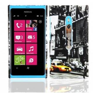 Cadorabo - Hard Cover für Nokia Lumia 920 - Case Cover Schutzhülle Bumper im Design: NEW YORK CAB