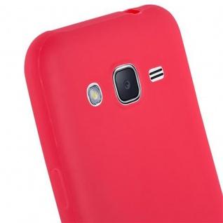 Cadorabo Hülle für Samsung Galaxy J2 2015 in CANDY ROT - Handyhülle aus flexiblem TPU Silikon - Silikonhülle Schutzhülle Ultra Slim Soft Back Cover Case Bumper - Vorschau 5