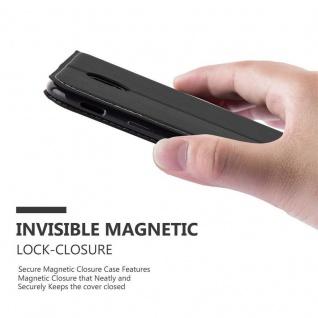 Cadorabo Hülle für Samsung Galaxy J3 2017 in SCHWARZ BRAUN ? Handyhülle mit Magnetverschluss, Standfunktion und Kartenfach ? Case Cover Schutzhülle Etui Tasche Book Klapp Style - Vorschau 5