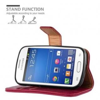 Cadorabo Hülle für Samsung Galaxy TREND LITE in WEIN ROT ? Handyhülle mit Magnetverschluss, Standfunktion und Kartenfach ? Case Cover Schutzhülle Etui Tasche Book Klapp Style - Vorschau 5