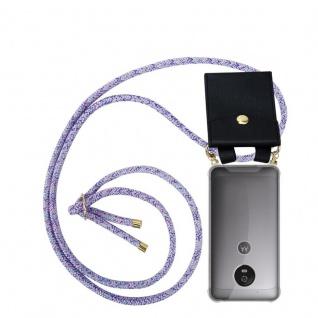 Cadorabo Handy Kette für Motorola MOTO G5 in UNICORN Silikon Necklace Umhänge Hülle mit Gold Ringen, Kordel Band Schnur und abnehmbarem Etui Schutzhülle