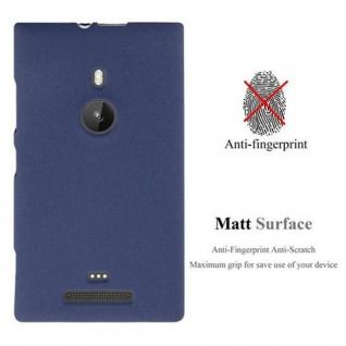 Cadorabo Hülle für Nokia Lumia 925 in FROST DUNKEL BLAU - Handyhülle aus flexiblem TPU Silikon - Silikonhülle Schutzhülle Ultra Slim Soft Back Cover Case Bumper - Vorschau 3
