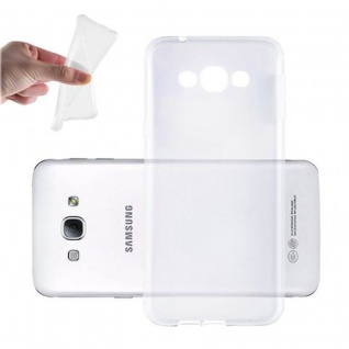 Cadorabo Hülle für Samsung Galaxy A8 2015 (5) - Hülle in VOLL TRANSPARENT ? Handyhülle aus TPU Silikon im Ultra Slim 'AIR' Design - Silikonhülle Schutzhülle Soft Back Cover Case Bumper