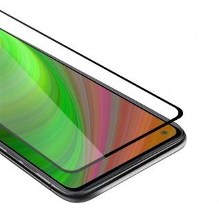 Cadorabo Vollbild Panzer Folie für Samsung Galaxy A21 Schutzfolie in TRANSPARENT mit SCHWARZ Gehärtetes (Tempered) Display-Schutzglas in 9H Härte mit 3D Touch