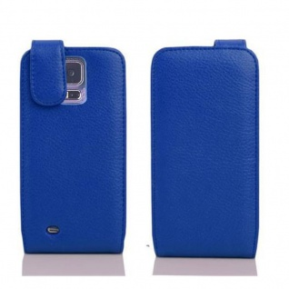Cadorabo Hülle für Samsung Galaxy S5 MINI / S5 MINI DUOS in KÖNIGS BLAU - Handyhülle im Flip Design aus strukturiertem Kunstleder - Case Cover Schutzhülle Etui Tasche Book Klapp Style - Vorschau 2