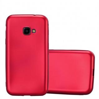 Cadorabo Hülle für Samsung Galaxy Xcover 4 in METALLIC ROT - Handyhülle aus flexiblem TPU Silikon - Silikonhülle Schutzhülle Ultra Slim Soft Back Cover Case Bumper
