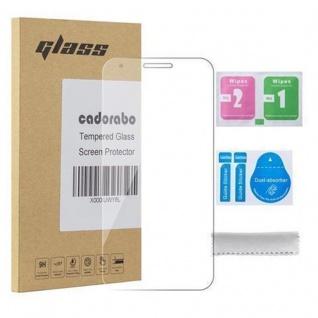 Cadorabo Panzer Folie für Alcatel PIXI 3 (5.5 Zoll) - Schutzfolie in KRISTALL KLAR - Gehärtetes (Tempered) Display-Schutzglas in 9H Härte mit 3D Touch Kompatibilität