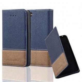 Cadorabo Hülle für Apple iPhone 4 / iPhone 4S in DUNKEL BLAU BRAUN ? Handyhülle mit Magnetverschluss, Standfunktion und Kartenfach ? Case Cover Schutzhülle Etui Tasche Book Klapp Style