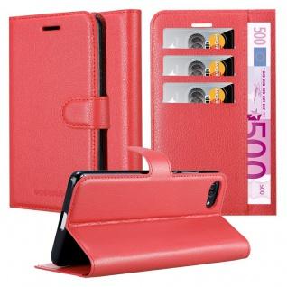 Cadorabo Hülle für Asus ZenFone 4 MAX (5, 2 Zoll) in KARMIN ROT - Handyhülle mit Magnetverschluss, Standfunktion und Kartenfach - Case Cover Schutzhülle Etui Tasche Book Klapp Style