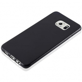 Cadorabo Hülle für Samsung Galaxy S6 EDGE PLUS in SCHWARZ - Handyhülle aus flexiblem TPU Silikon - Silikonhülle Schutzhülle Ultra Slim Soft Back Cover Case Bumper - Vorschau 2