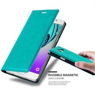 Cadorabo Hülle für Samsung Galaxy A5 2016 in PETROL TÜRKIS - Handyhülle mit Magnetverschluss, Standfunktion und Kartenfach - Case Cover Schutzhülle Etui Tasche Book Klapp Style