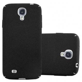 Cadorabo Hülle für Samsung Galaxy S4 in FROSTY SCHWARZ - Hardcase Handyhülle aus Plastik gegen Kratzer und Stöße - Schutzhülle Bumper Ultra Slim Back Case Hard Cover