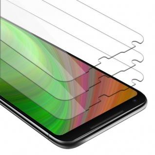 Cadorabo 3x Panzer Folie für Google Pixel 2 XL - Schutzfolie in KRISTALL KLAR - 3er Pack Gehärtetes (Tempered) Display-Schutzglas in 9H Härte mit 3D Touch Kompatibilität