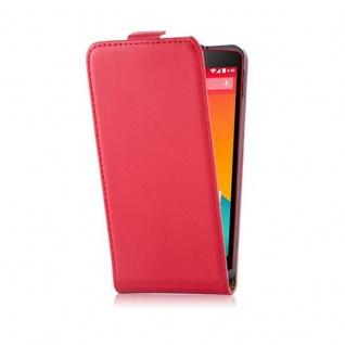 Cadorabo Hülle für LG NEXUS 5 in CHILI ROT - Handyhülle im Flip Design aus glattem Kunstleder - Case Cover Schutzhülle Etui Tasche Book Klapp Style