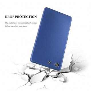 Cadorabo Hülle für Sony Xperia M5 in METALLIC BLAU - Handyhülle aus flexiblem TPU Silikon - Silikonhülle Schutzhülle Ultra Slim Soft Back Cover Case Bumper - Vorschau 4