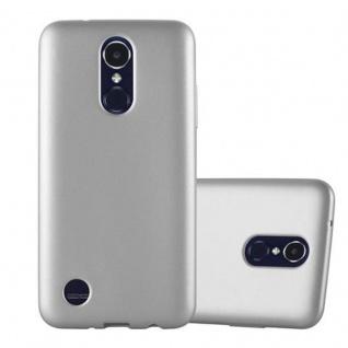 Cadorabo Hülle für LG K8 2017 in METALLIC SILBER - Handyhülle aus flexiblem TPU Silikon - Silikonhülle Schutzhülle Ultra Slim Soft Back Cover Case Bumper