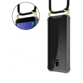 Cadorabo Handy Kette für Samsung Galaxy J4 2018 in SCHWARZ - Silikon Necklace Umhänge Hülle mit Gold Ringen, Kordel Band Schnur und abnehmbarem Etui ? Schutzhülle - Vorschau 5