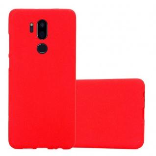Cadorabo Hülle für LG G7 ThinQ in FROST ROT - Handyhülle aus flexiblem TPU Silikon - Silikonhülle Schutzhülle Ultra Slim Soft Back Cover Case Bumper