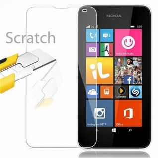 Cadorabo Panzer Folie für Nokia Lumia 540 - Schutzfolie in KRISTALL KLAR - Gehärtetes (Tempered) Display-Schutzglas in 9H Härte mit 3D Touch Kompatibilität - Vorschau 2