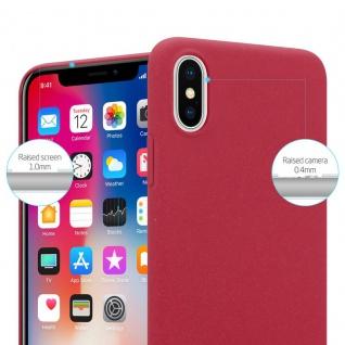 Cadorabo Hülle für Apple iPhone X / XS in FROSTY ROT - Hardcase Handyhülle aus Plastik gegen Kratzer und Stöße - Schutzhülle Bumper Ultra Slim Back Case Hard Cover - Vorschau 2