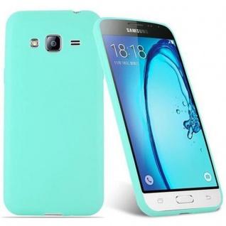 Cadorabo Hülle für Samsung Galaxy J3 2015 in CANDY BLAU - Handyhülle aus flexiblem TPU Silikon - Silikonhülle Schutzhülle Ultra Slim Soft Back Cover Case Bumper - Vorschau 2