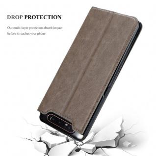Cadorabo Hülle für Samsung Galaxy A80 / A90 in KAFFEE BRAUN - Handyhülle mit Magnetverschluss, Standfunktion und Kartenfach - Case Cover Schutzhülle Etui Tasche Book Klapp Style - Vorschau 5