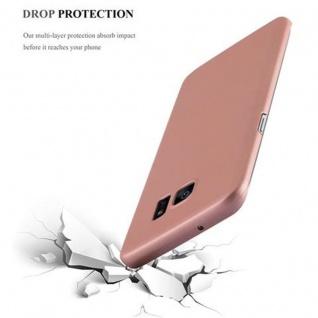 Cadorabo Hülle für Samsung Galaxy S7 EDGE in METALL ROSE GOLD - Hardcase Handyhülle aus Plastik gegen Kratzer und Stöße - Schutzhülle Bumper Ultra Slim Back Case Hard Cover - Vorschau 5