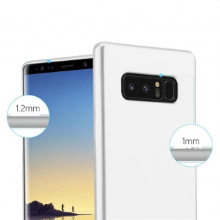 Cadorabo Hülle für Samsung Galaxy NOTE 8 in METALLIC SILBER - Handyhülle aus flexiblem TPU Silikon - Silikonhülle Schutzhülle Ultra Slim Soft Back Cover Case Bumper - Vorschau 5