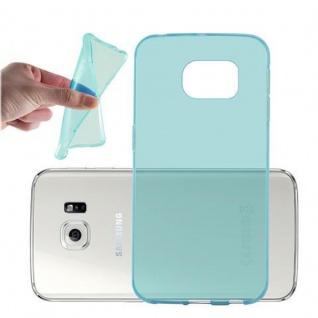 Cadorabo Hülle für Samsung Galaxy S6 EDGE in TRANSPARENT BLAU - Handyhülle aus flexiblem TPU Silikon - Silikonhülle Schutzhülle Ultra Slim Soft Back Cover Case Bumper