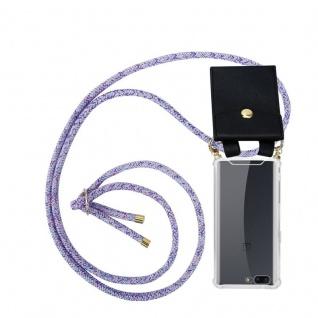 Cadorabo Handy Kette für OnePlus 5 in UNICORN Silikon Necklace Umhänge Hülle mit Gold Ringen, Kordel Band Schnur und abnehmbarem Etui Schutzhülle